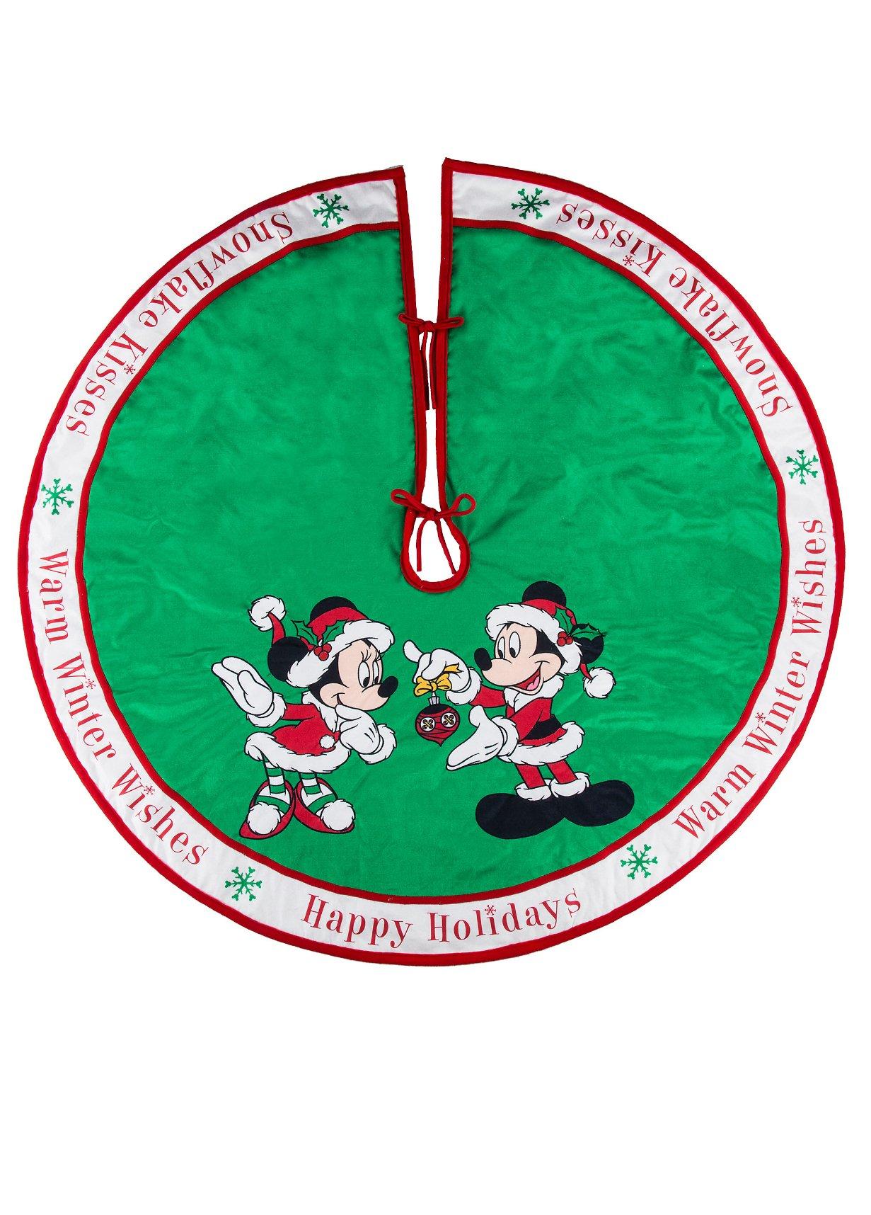 Disney Parks Mickey Minnie Mouse Holiday Tree Skirt