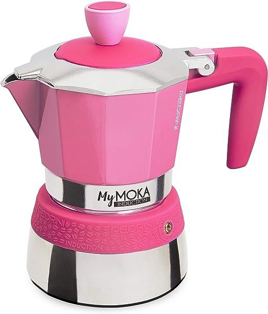 Pedrini Cafetera mymoka Induction, 3 tazas, berrylove: Amazon.es ...
