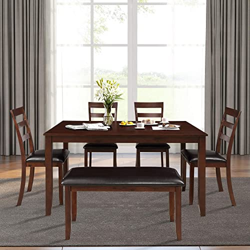 ModernLuxe 6 Pieces Dining Table Set