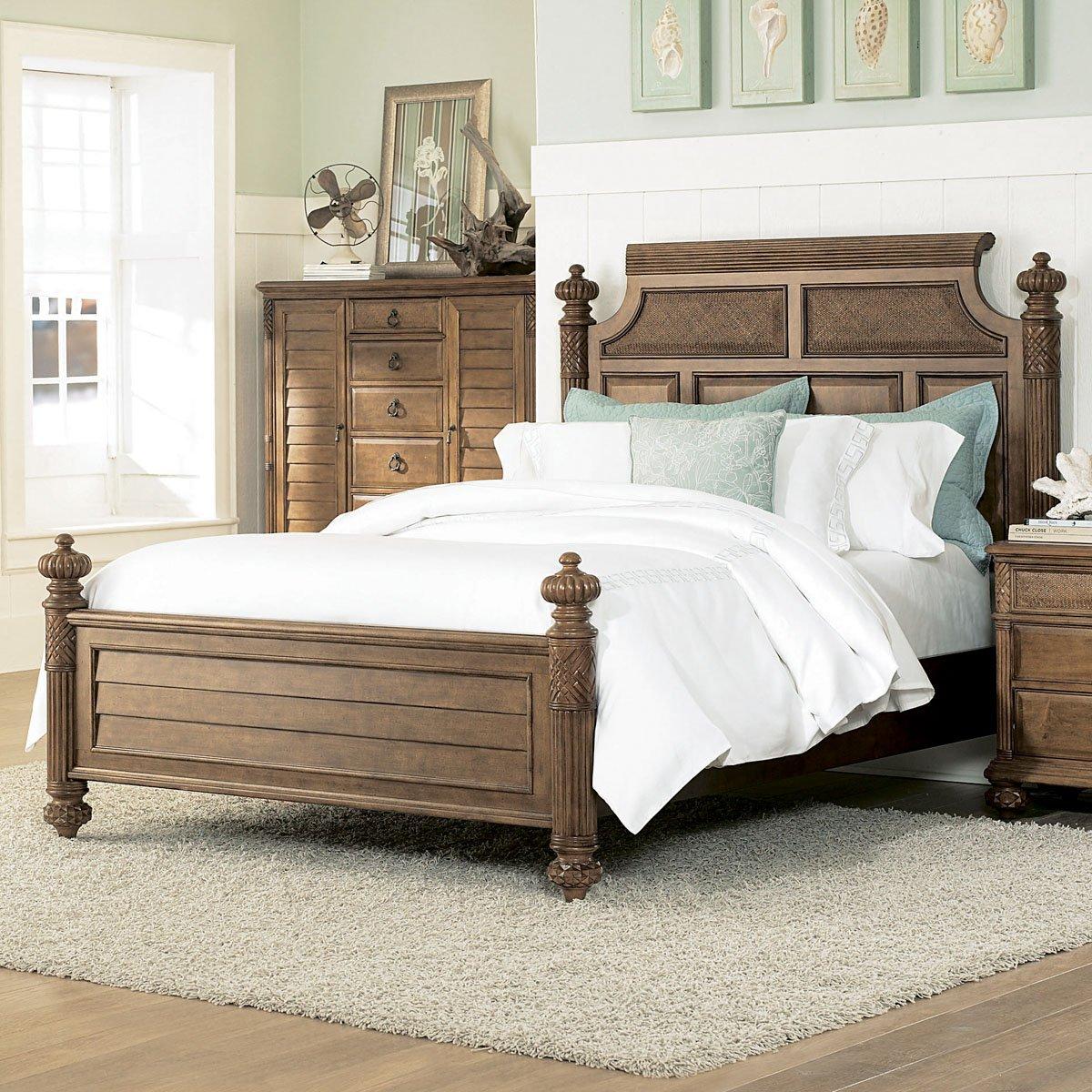 Amazon.com: American Drew Grand Isle Island Panel Bed in Amber ...