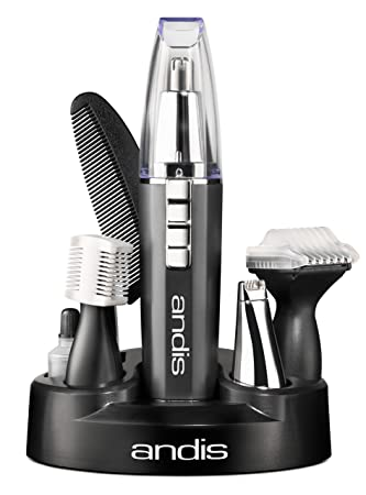 Andis EasyTrim2 9-Piece Personal Ear, Nose, Eyebrow and Beard Trimmer Kit,