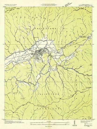 Amazon Com North Carolina Maps 1935 Andrews Nc Usgs Historical