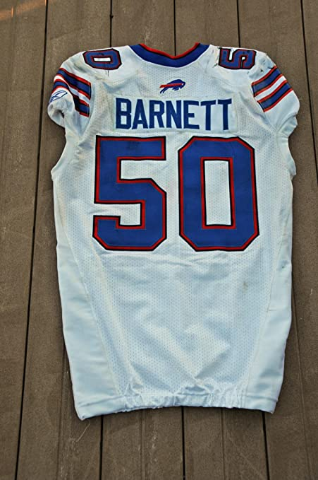 Nice 2011 Buffalo Bills Nick Barnett Game Worn Jersey NFL Auctions  for sale
