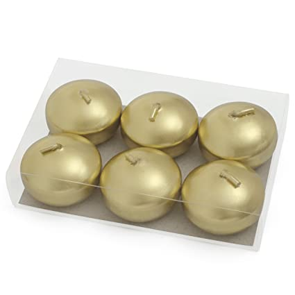 Amazon Com Gold Floating Candles 2 Inch Metallic Discs For Bowls