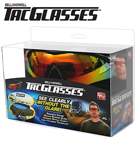 804cec389c Amazon.com  TAC GLASSES by Bell+Howell Sports Polarized Sunglasses for  Men Women