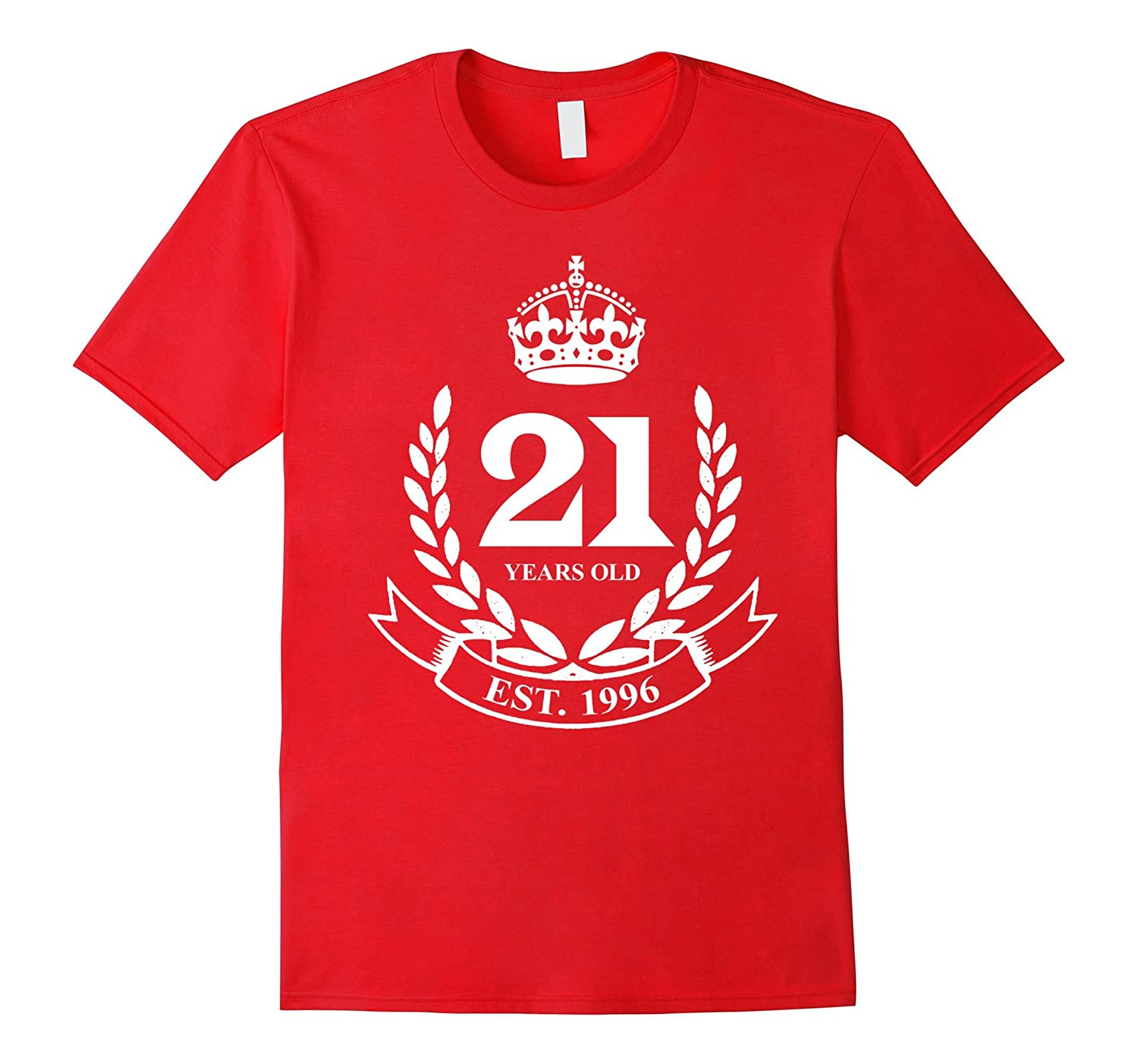 Established 1996 Classic Crest 21st Birthday 21 Years Old T--TH
