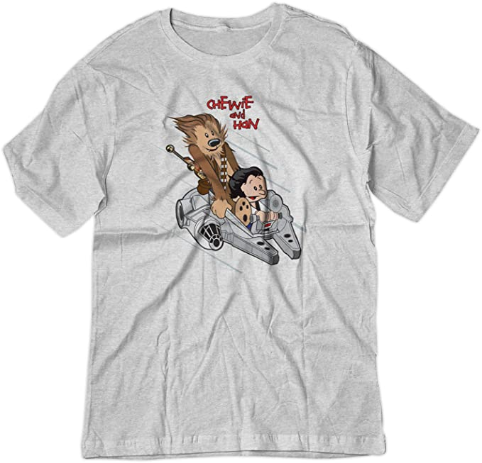 Star Shirt Hobbes Men's Falcon Solo Calvin Chewbaccaamp; Han Wars Bsw JclK13TF