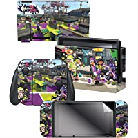 """Controller Gear Nintendo Switch Skin & Screen Protector Set, Officially Licensed By Nintendo - Splatoon 2 """"Vandals Vs…"""