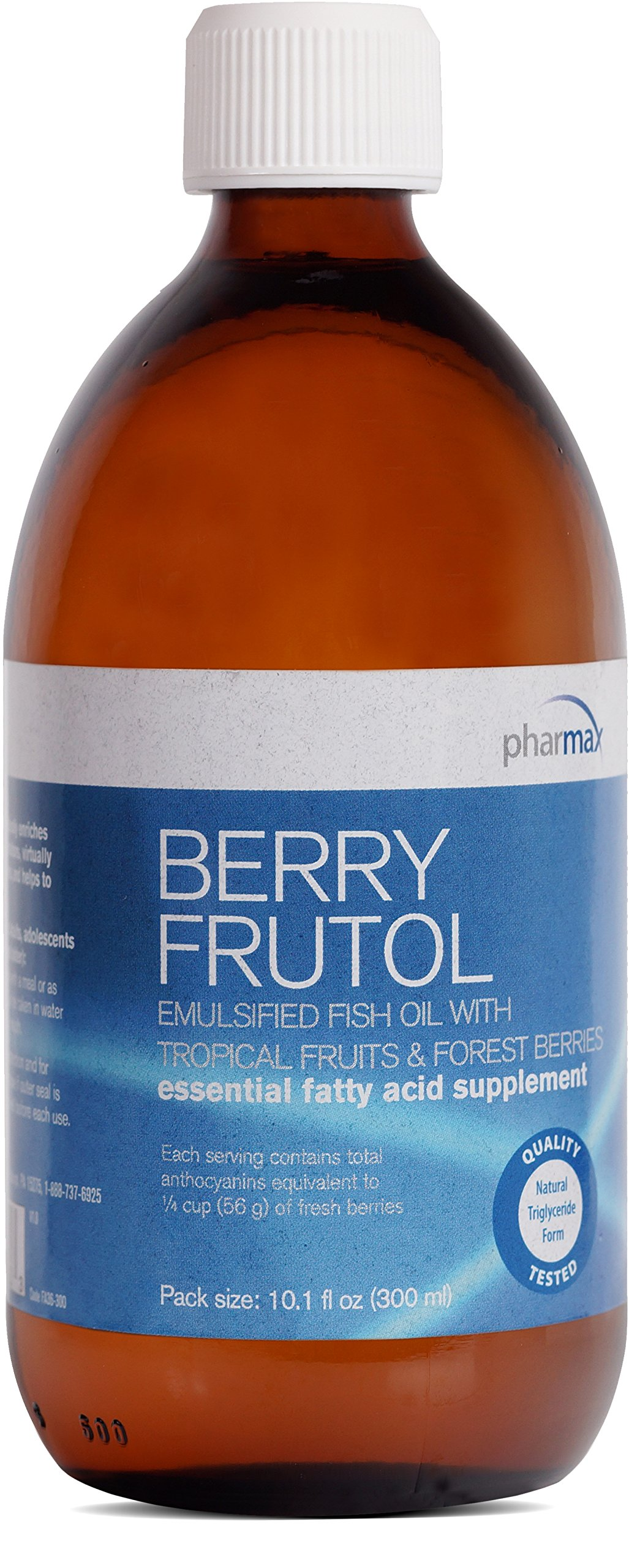 Pharmax - Berry Frutol - Fish Oil for Omega Fatty Acids, Cognitive Health, and Cardiovascular Support* - 10.1 fl oz (300 ml)