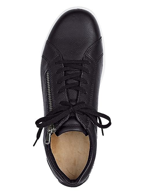 Jomos Schnürschuh mit seitlichem Reißverschluss schwarz