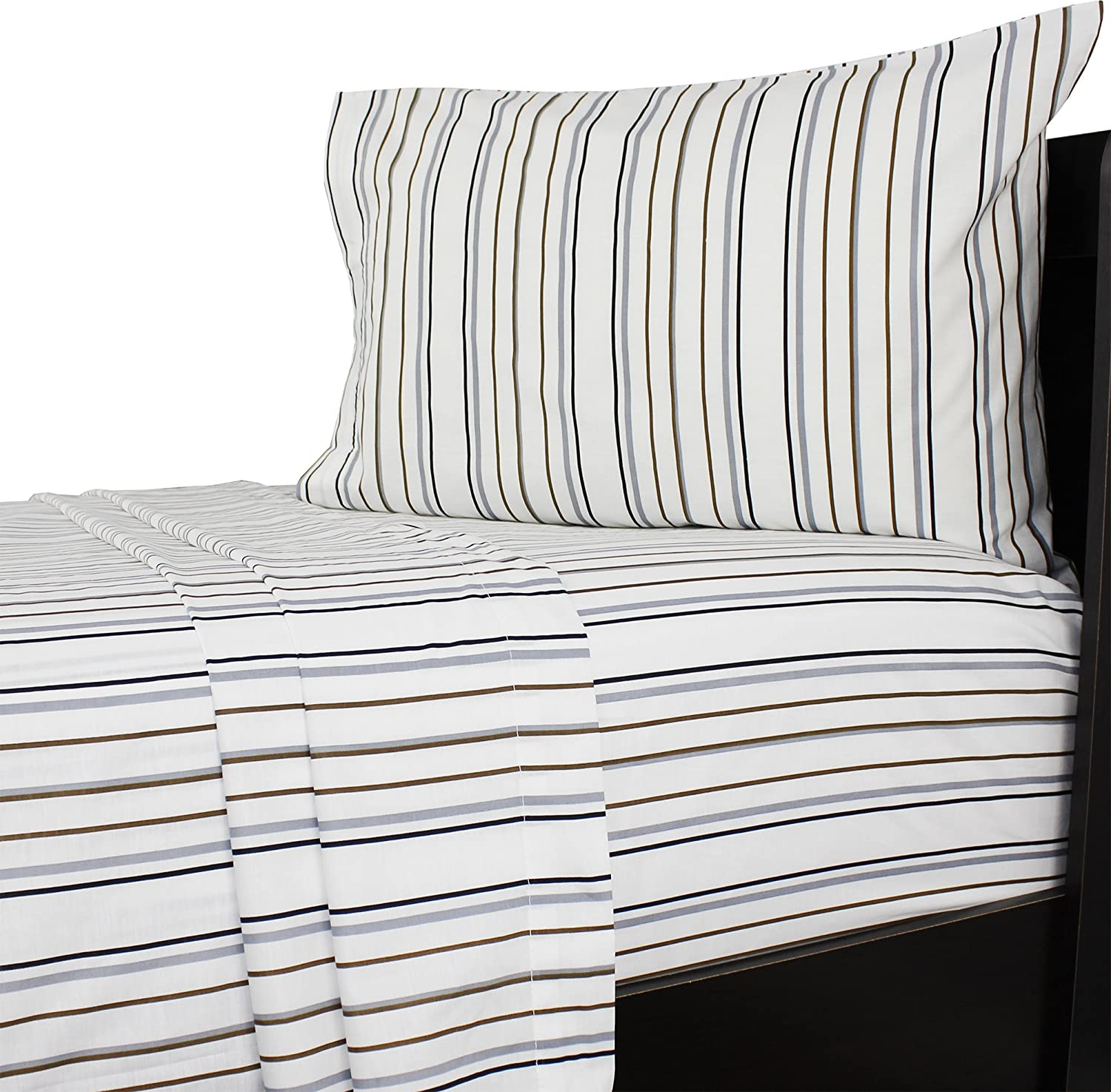 Amazon Com I Generation Bentley Queen Bed Sheet Set Striped Bedding