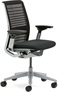 steelcase think office chair. Steelcase 465A300-5064 3D Knit Think Chair, Licorice Office Chair A