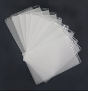 wpeng 10 pack soft plastic vertical name tag business id card badge holders protective case - Plastic Sleeves For Cards