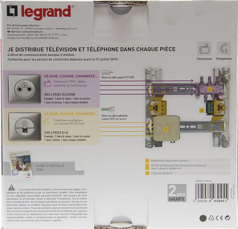 Legrand Leg93045 Coffret De Communication Basique 2 Medias Drivia Amazon Fr Bricolage