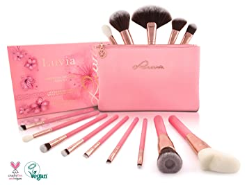 a55f1f926ae68b Luvia Profi Beauty Pinsel Set Inkl. Kosmetiktasche Für Schminke - Sakura  Make-Up Brush
