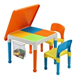 Liberty House Toys Multi-Purpose Building Block Construction Table with Storage Bag