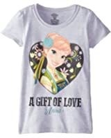 Disney Girls' Frozen Fever Let Me Smile Short-Sleeve Graphic T-Shirt