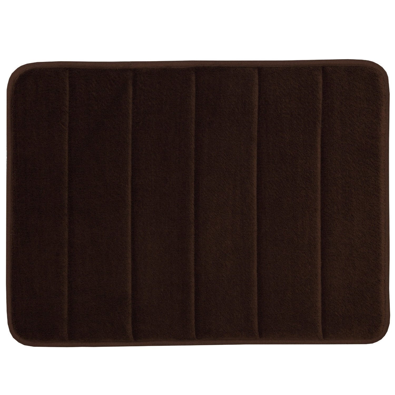 WPMS Incredibly Soft and Absorbent Memory Foam Bath Mat, 17 By 24-inch (Brown) AHF SYNCHKG127522