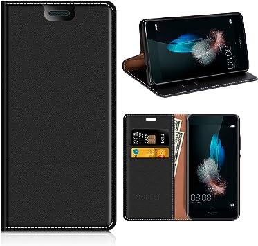 MOBESV Funda Huawei P8 Lite, Funda Cuero, Carcasa en Libro ...