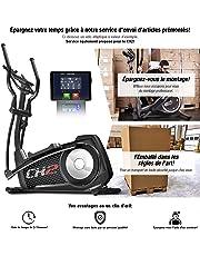 Sportstech Vélo elliptique CX2 Ergomètre avec Commande par Application Smartphone, Poids d'inertie 27 KG, Bluetooth, 24 Niveaux de résistance, Cardio Fitness 12 programmes