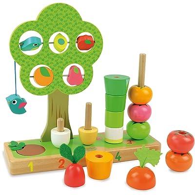 Vilac - 2469 -Jouet En Bois J'apprends À Compter Les Légumes: Toys & Games