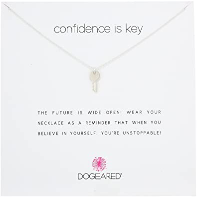 amazon ドギャード dogeared confidence is key silver cute key