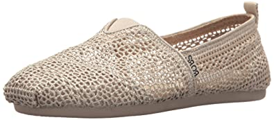 Skechers Bobs Damen Slipper Plush PeaceLove Beige  35.5 EUGrau