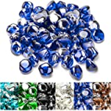 Onlyfire Reflective Fire Glass Diamonds for Natural or Propane Fire Pit, Fireplace, or Gas Log Sets, 10-Pound, 1/2-Inch…