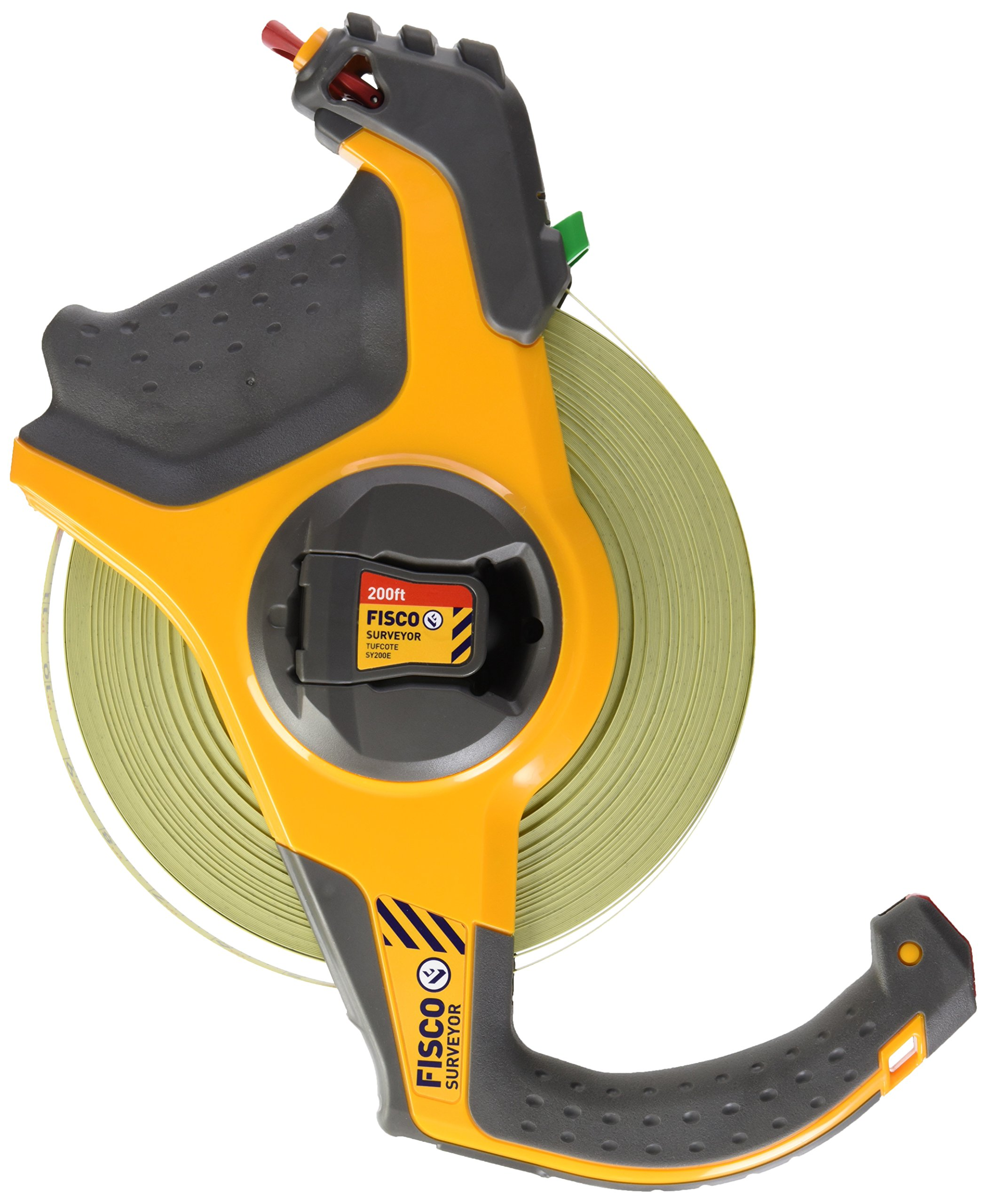 Fisco Tools SY200E Surveyor-Feets Steel Long Tape, 1/2-Inch by 200-Feet
