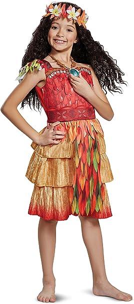 Amazon.com: Niñas Deluxe Moana Epilogue hawaiano disfraz de ...