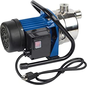 TOPWAY 1.6HP Stainless Steel Electric Shallow Well Booster Lawn Sprinkling Garden Water Pump