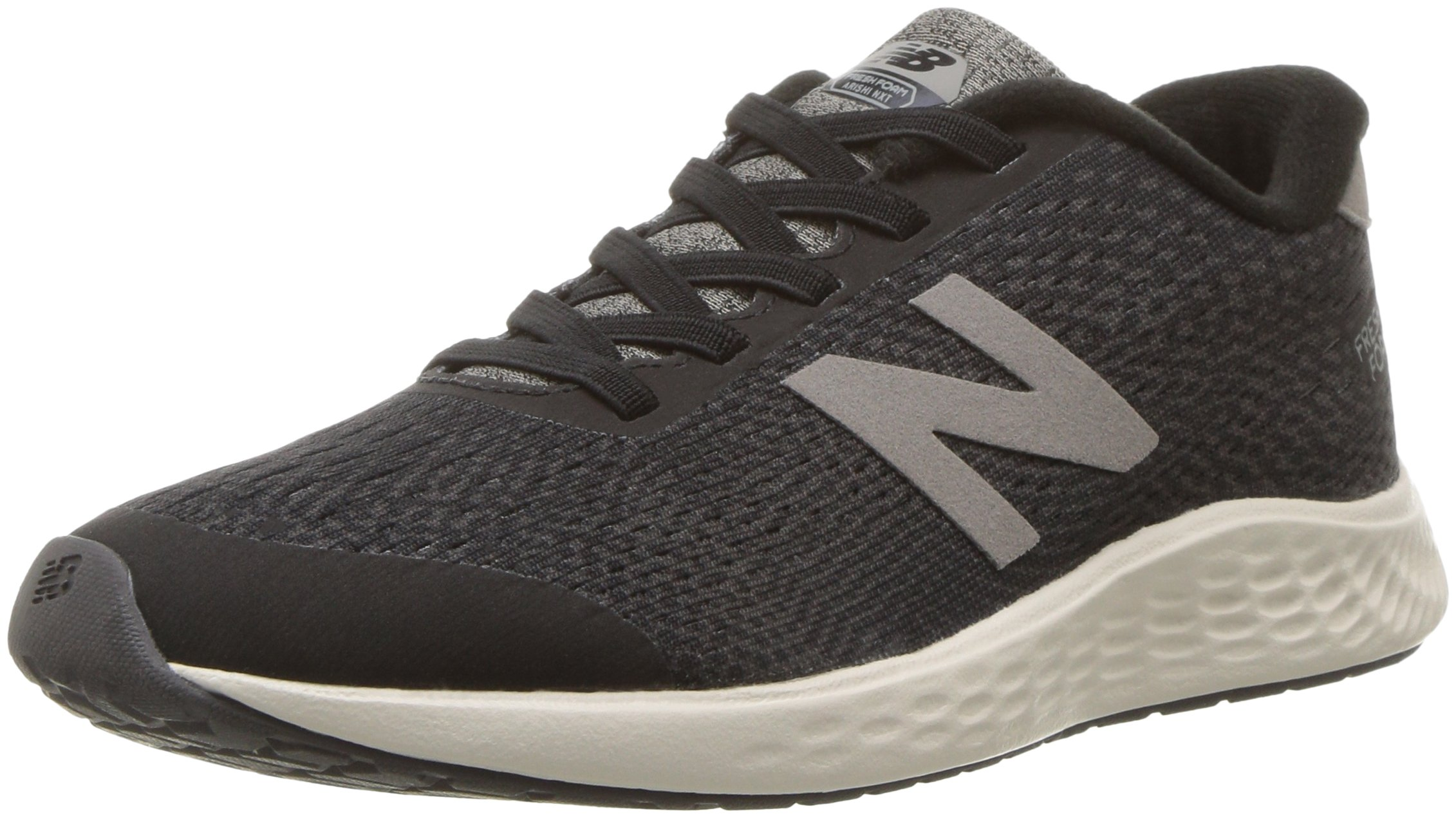 New Balance Boys' Arishi Next V1 Hook and Loop Running Shoe Black/Magnet 3 W US Little Kid
