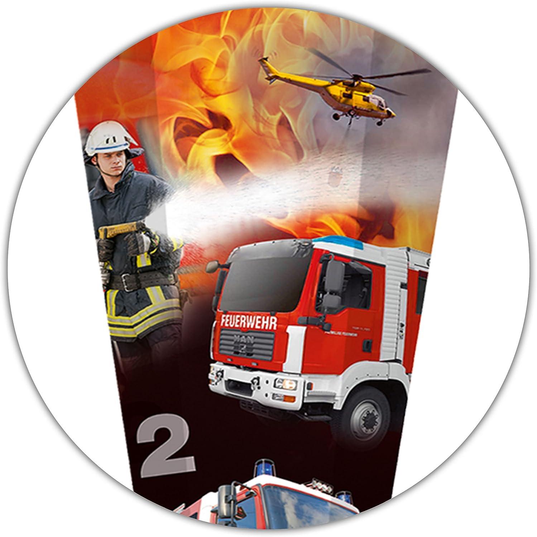 alles-meine.de GmbH stabile Spitze f/ür Schult/üte Zuckert/üte Schleife ALLE Gr/ö/ßen .. Feuerwehrmann /& Feuerwehrauto aus Kunststoff incl Feuerwehr 50 // 70 // 85 cm