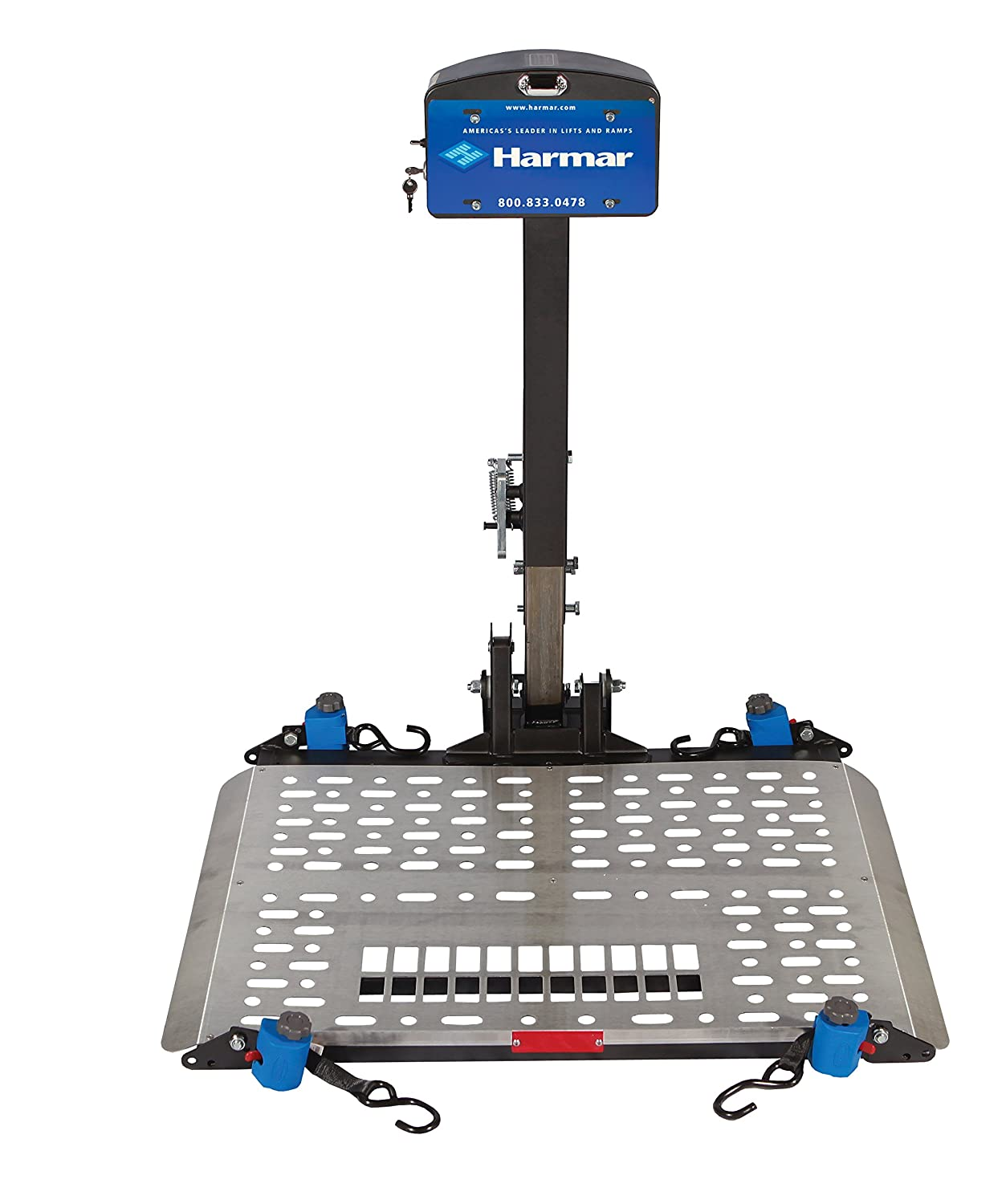Harmar Mobility Upgraded AL500 Power Wheelchair Lift Outside Fully on