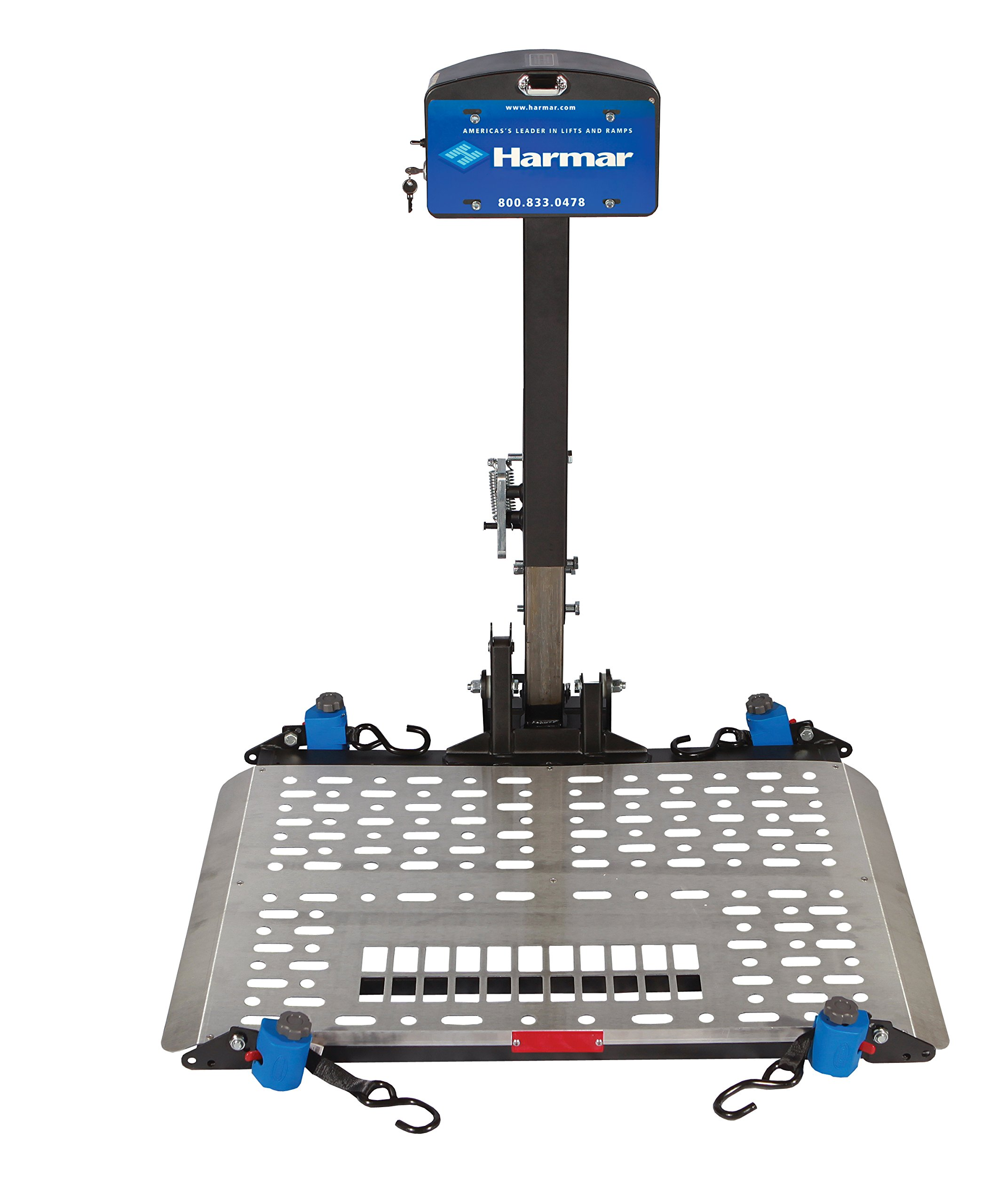 Harmar Mobility Upgraded AL500 Power Wheelchair Lift Outside Fully Automatic Carrier with II/III Hitch Adapter & Wiring Harness