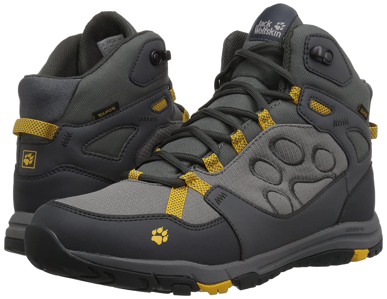 Jack Wolfskin Activate Texapore MID M Hiking Boot Burly Yellow xt US Mens 9 D US