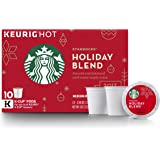 Starbucks 2017 Holiday Blend Medium Roast Single Cup Coffee for Keurig Brewers, 4 Ounce (Pack of 6)