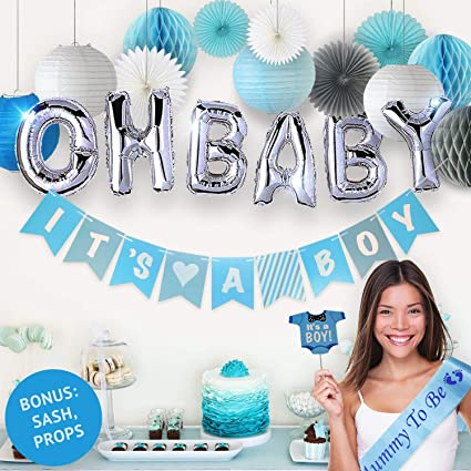 Gender Reveal Party Supplies 10//15 Pieces Baby Shower Boy or Girl Reveal Kit