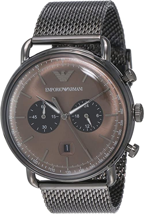 Relógio masculino de quartzo e cronógrafo Emporio Armani AR11141