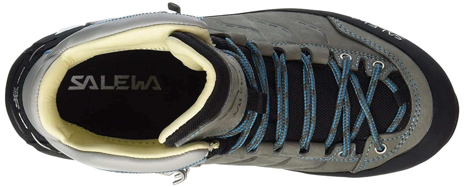 Salewa Mountain Trainer Mid Backpacking Boot - Women's B011KRVE60 8.5 B(M) US|Pewter / Ocean