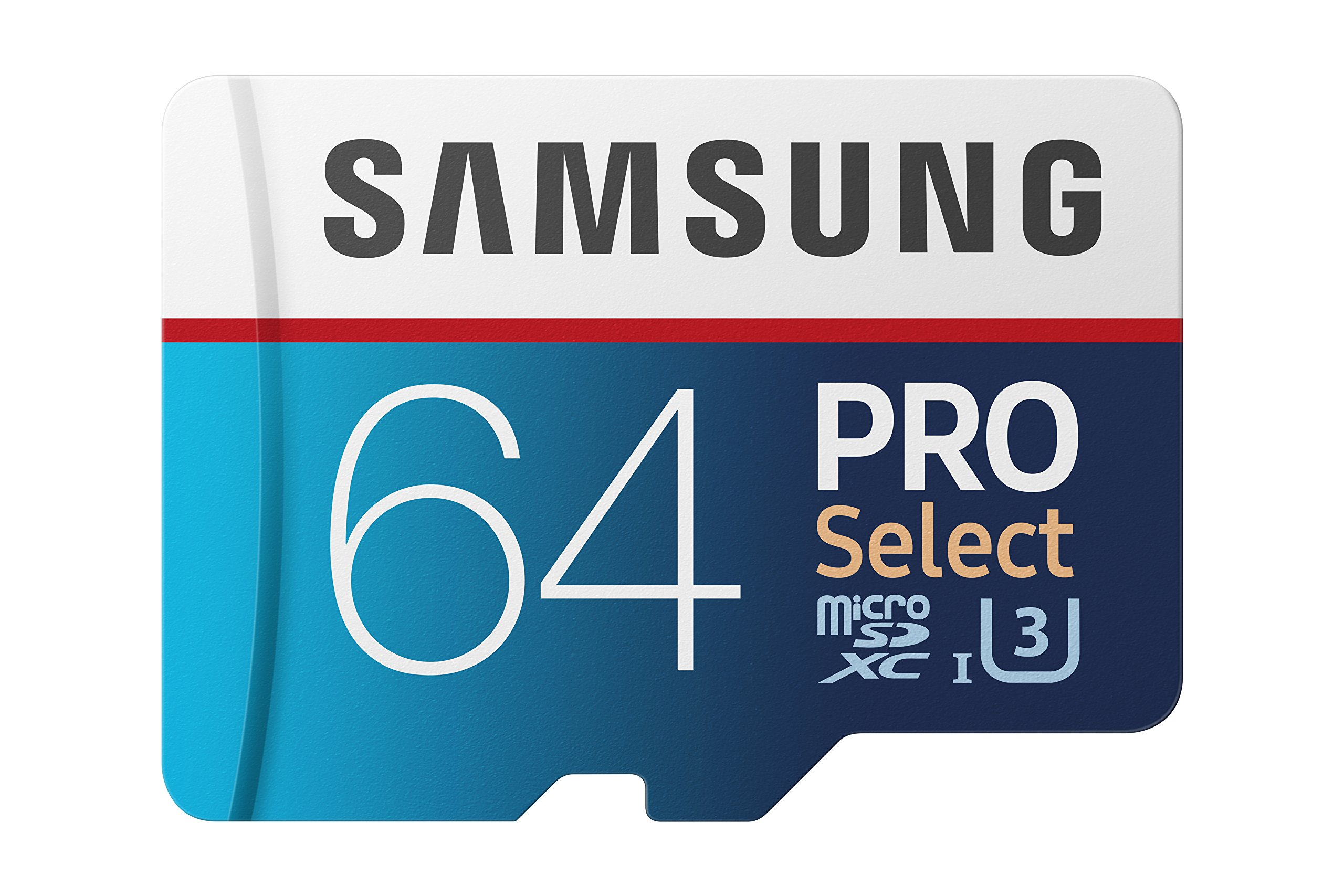Samsung 100MB/s (U3) MicroSD PRO Select Memory Card with Adapter 64 GB (MB-MF64GA/AM) by Samsung