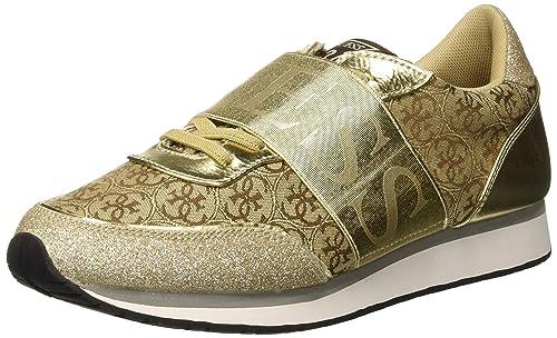 Guess Sunnygym, Zapatillas de Gimnasia para Mujer, Beige Beibr, 41 EU: Amazon.es: Zapatos y complementos