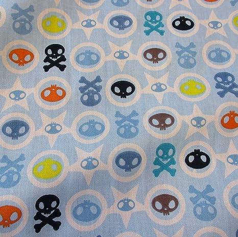 Tela tela de algodón metro color azul claro algodón pirata ...