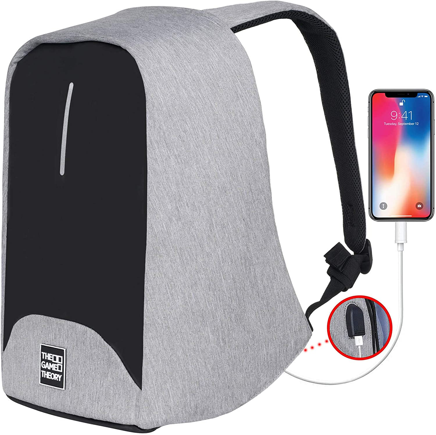 Travel Laptop Backpack Anti Theft Lightweight Waterproof Bag Slim Durable Unisex Design