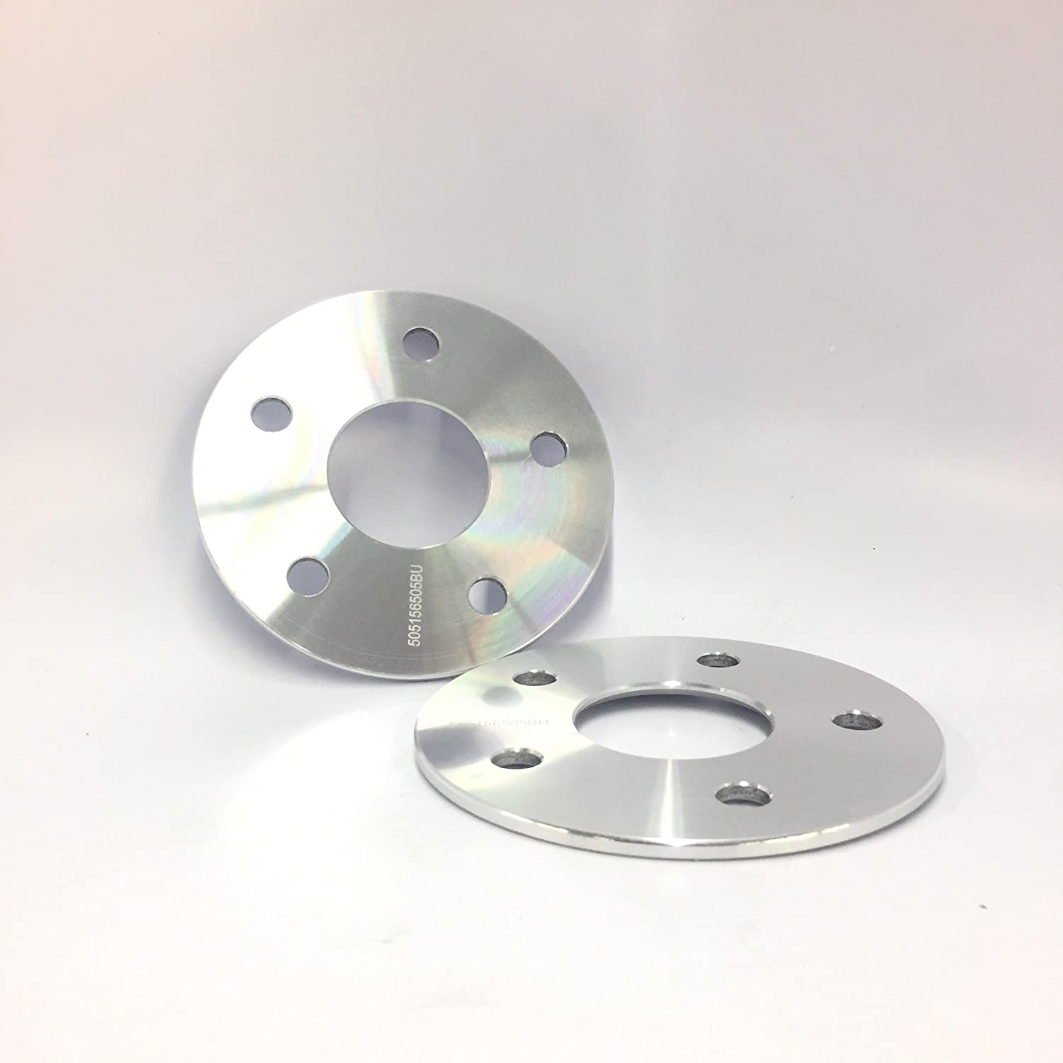 2 X 5mm ALLOY WHEEL SPACERS SHIMS M14X1.5 SILVER BOLTS AUDI A3 A4 A6 5X112
