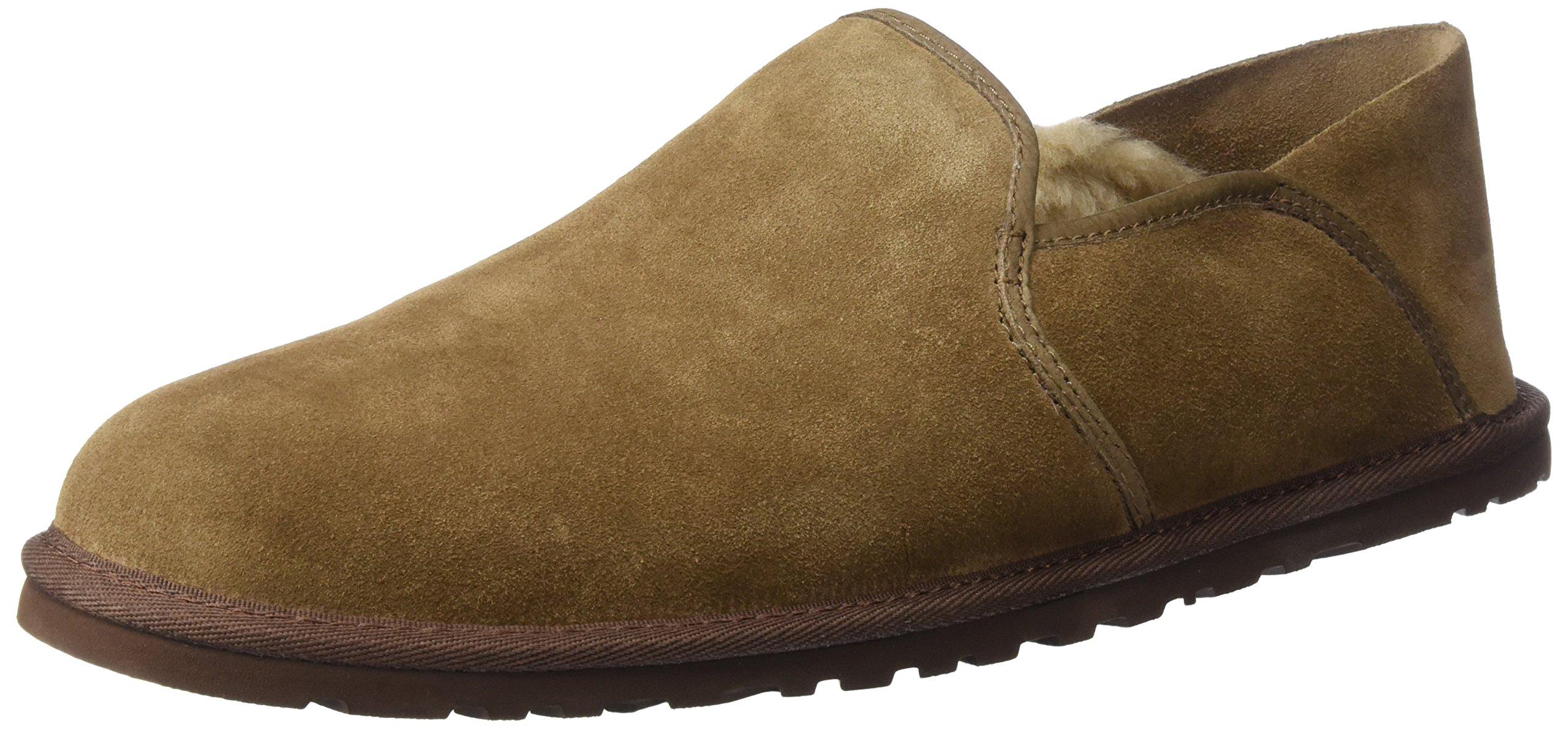 UGG Men's Cooke Slip-On Loafer, Dark Chestnut, 10 M US