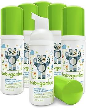 6-Pack Babyganics Alcohol-Free Foaming Hand Sanitizer, 50 ml