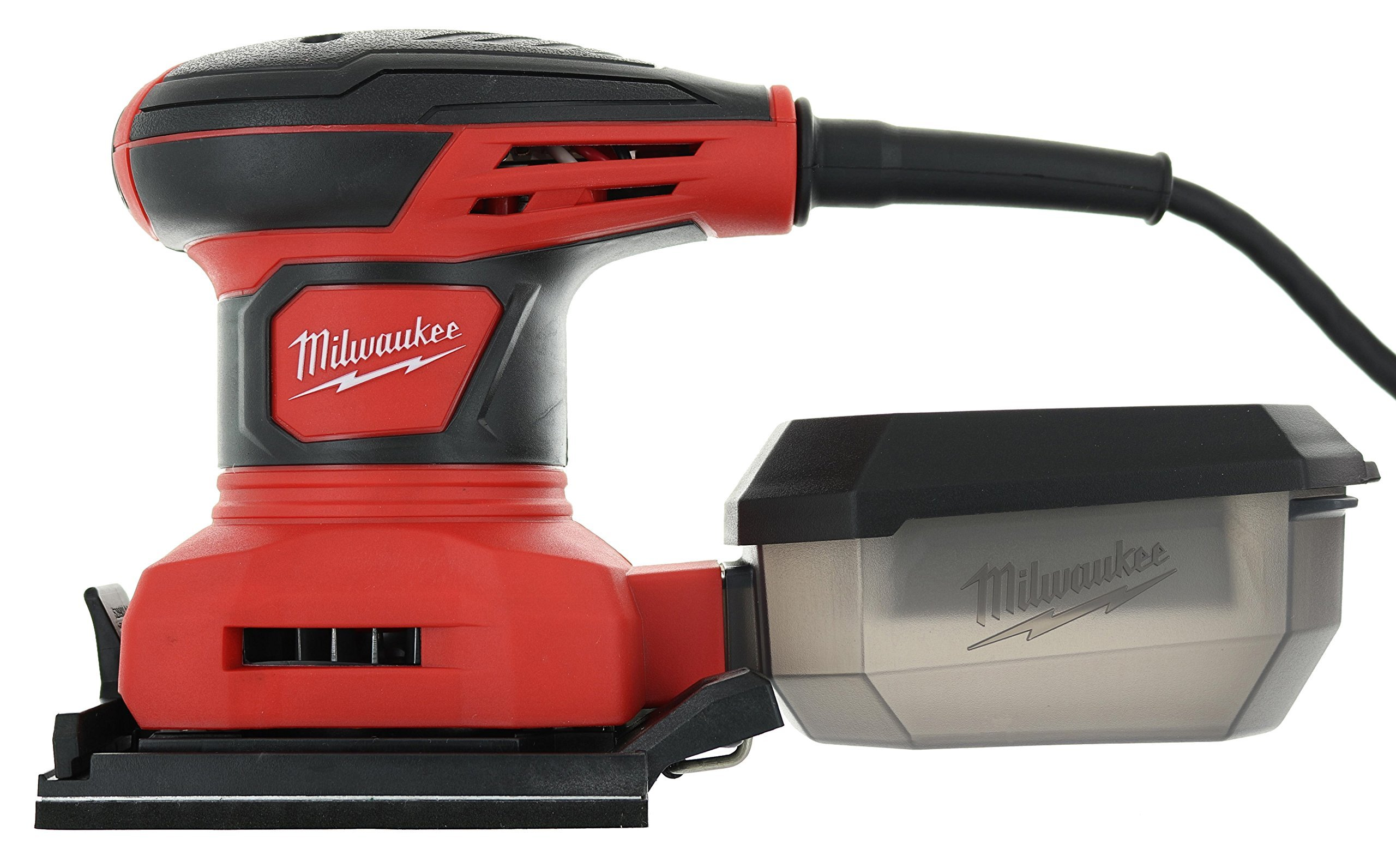 Milwaukee 6033-21 3 Amp 1/4 Sheet Orbital 14,000 OBM Compact Palm Sander with Dust Canister (2 Sheets of Sandpaper Included) by Milwaukee (Image #2)
