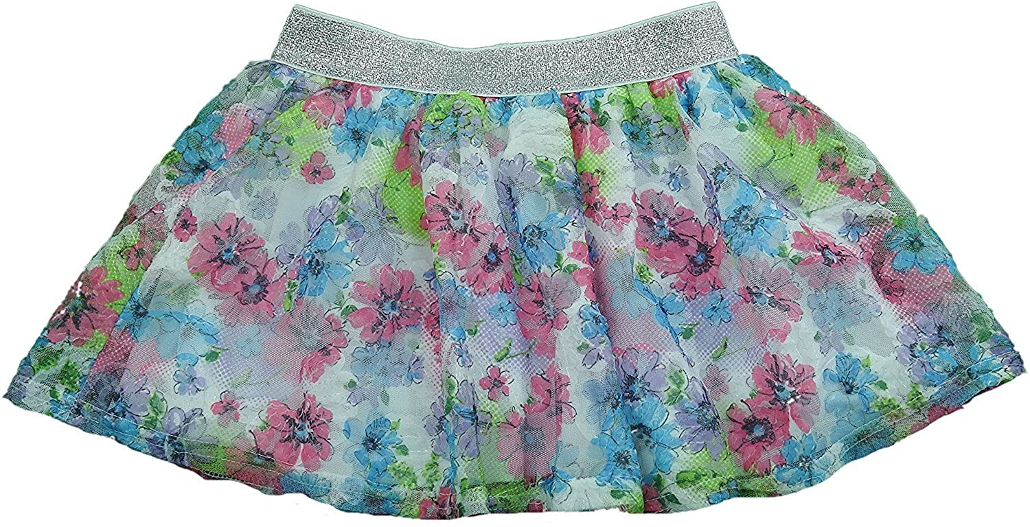Disney Girls Mini Skirt with Shorts Underneath Multi Color Floral