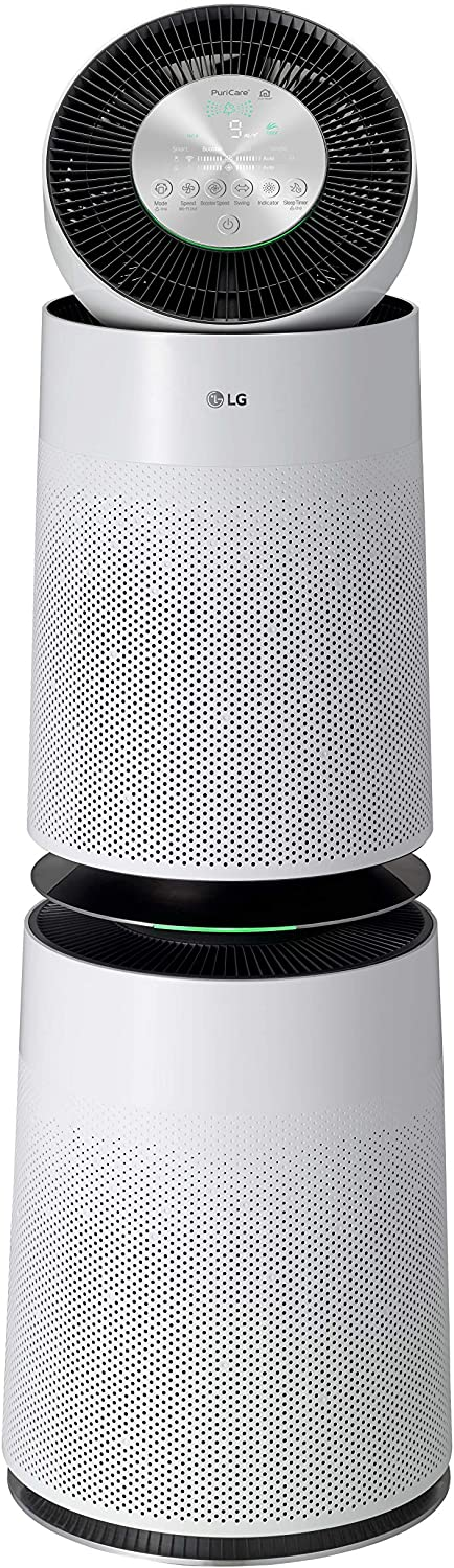 LG AS560DWR0 PuriCare 360-Degree Air Purifier with SmartThinQ Wi-Fi and Voice Control, White